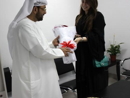 Roaa Alsaban Visits VOne Service Center